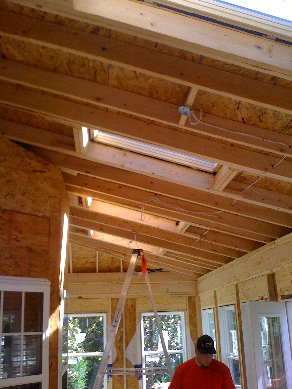 Framing Vaulted Ceiling With Skylights